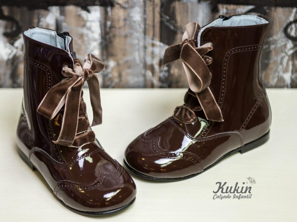 botas-pascualas-charol-marron