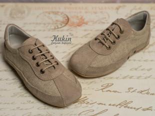 Zapatos lino taupe Landos