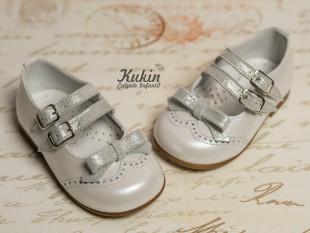 Zapatos blancos doble hebilla Gux´s