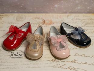 Zapatos lazo charol Gux´s