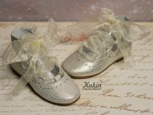 Zapatos dorados lazo Gux´s