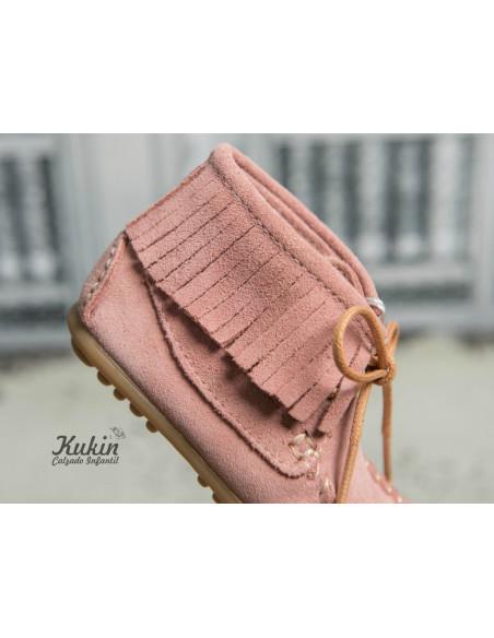 botas-niña-flecos-rosa