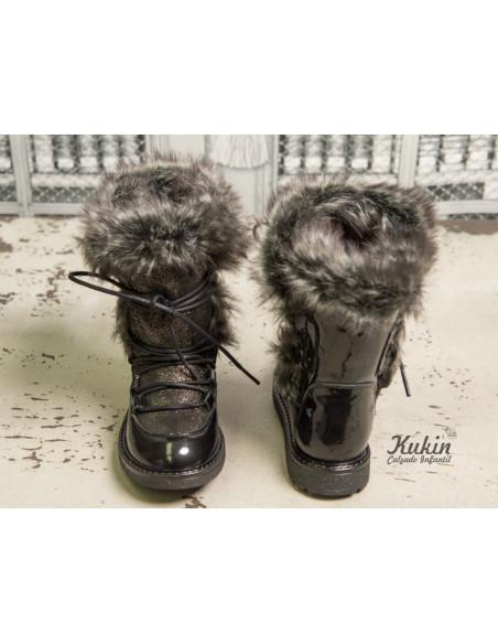 botas-niña-negras-pelo
