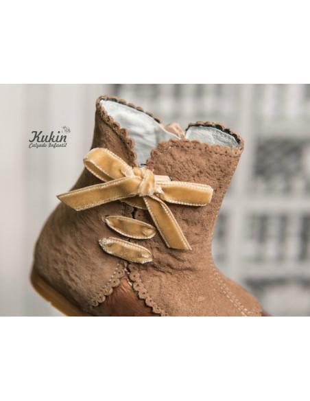 botas-niña-camel