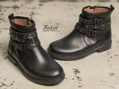 botas-niña-negras-piel