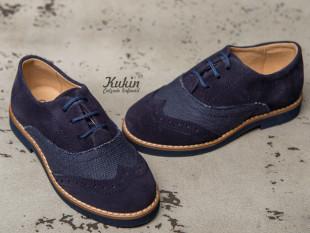 Zapatos niño oxford azul marino