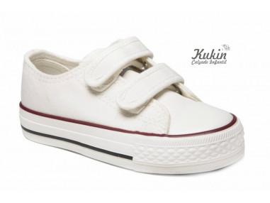 zapatillas-blancas-velcro-niño-niña