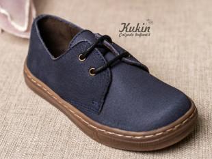Zapatos niño piel azul marino