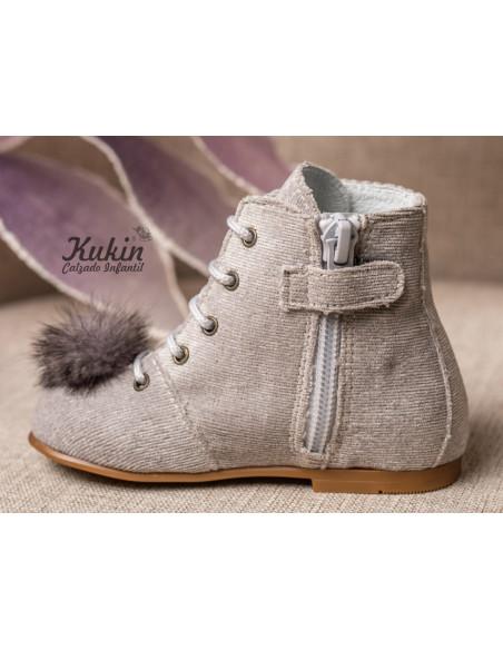 botas-niña-grises