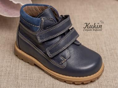 botas-niño-piel-marino